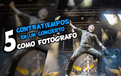 5 Contratiempos en un concierto como fotógrafo